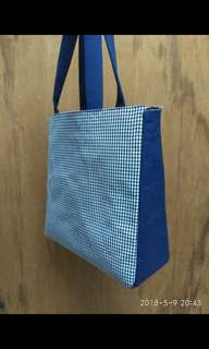 Tote bag (double layer with pocket) 27x28x10cm