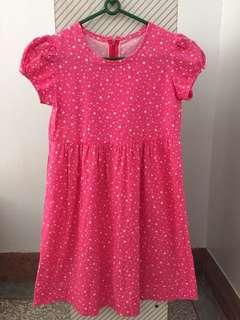 🚚 粉色滿天星洋裝