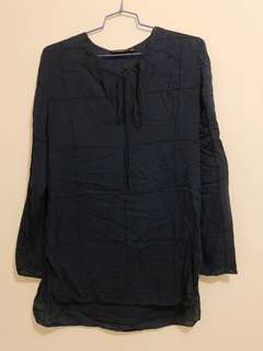 Massimo dutti dark blue women shirt
