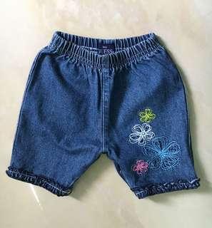 正品 GUCCI KIDS 刺繡童褲 近全新品 買到賺到