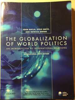 The Globalization of World Politics (international sixth edition)