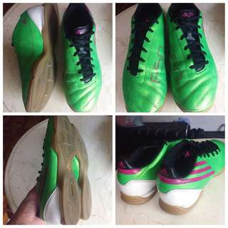 Adidas F50 Football Soccer Futsal Shoes Green Size 7us