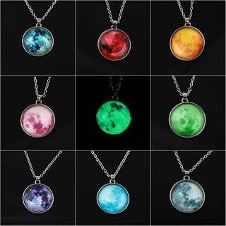 Moon necklace glow in the dark. SALE! SALE!