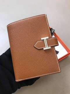 Hermes Bear gold color short Wallet Epsom