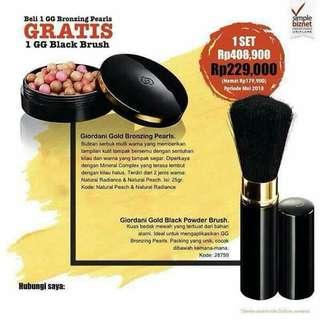 Giordani gold bronzing & blush on make up om