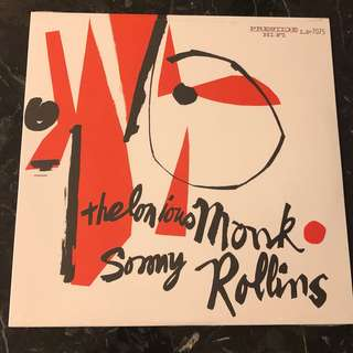 Thelonious Monk and Sonny Rollins. Vinyl Lp. New