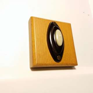 Vintage~Oval Bakelite Push Button Door Bell~門鐘掣~Made in USA