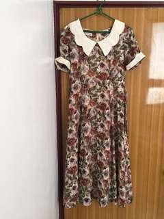 專櫃印花洋裝