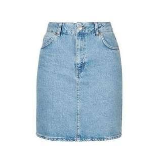 Authentic Topshop Moto Denim Skirt