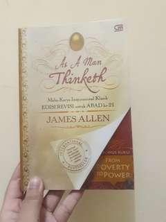 Buku Motivasi Bestseller As A Man Thinketh + Bonus Buku From Poverty to Power