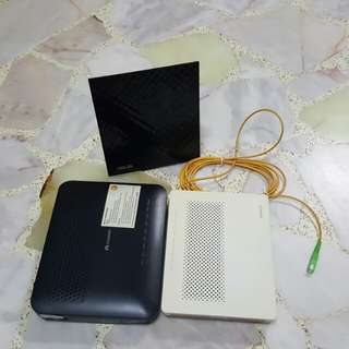 Set of 3 Asus router and huawei ONT