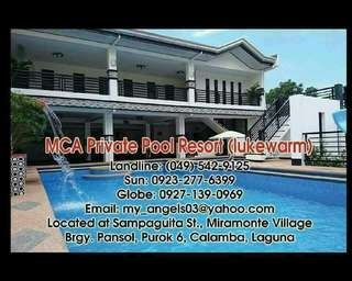 Private pool resort for rent