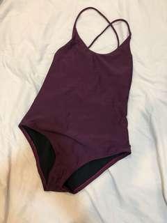 Maroon swimsuit