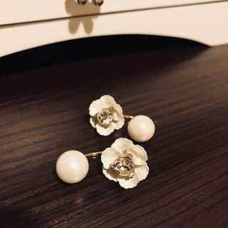 London vintage floral earrings set