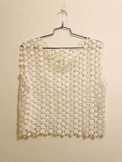 Zopin white lace women top