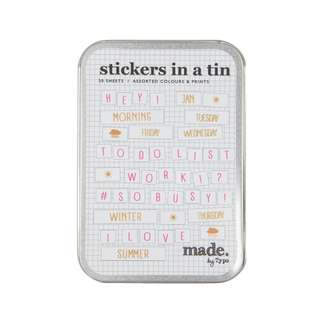 [Clearance Item] Typo - Stickers In A Tin (Planner Stickers)