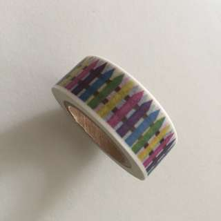 Colourful Picket Fence GJ33 Washi Tape 15mm x 10m