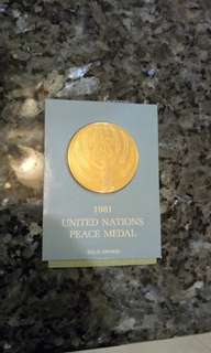 Franklin Mint 1981 United Nations Peace Medal