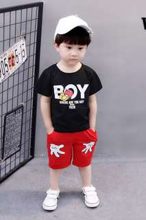 Mickey Mouse tee and Pant For Age 1-6 yrs Old