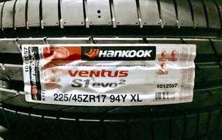 225/45R17 Hankook Ventus S1 Evo2