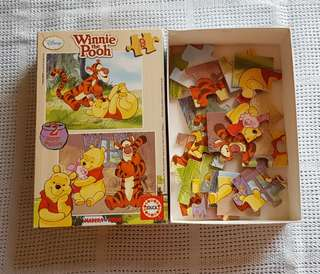 Disney - Winnie the Pooh 2x wooden puzzles for 3yo+