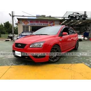 【FB搜尋桃園阿承】福特 超人氣FOCUS ST 2006年 2.5 紅色 二手車 中古車