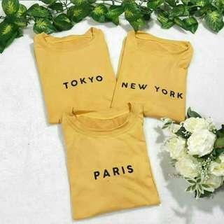 Tokyo and New York shirts