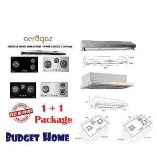 🚚 Cooker hood and hob cheapest in town!! Aerogaz hood and hob! burner stove cooker hood and hob package