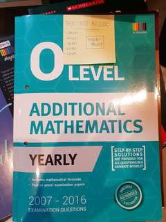 O Level additional maths yearly exam paper