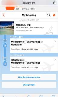 Hawaii return flights
