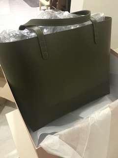 Mansur Gavriel Calf Large Tote Olive Bag