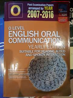 O Level past year English oral communication yearly edition