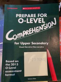 Prepare for o level comprehension