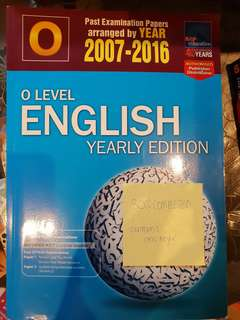 O Level English yearly edition exam paper 2007 to 2016