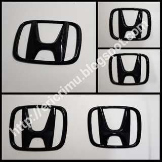Honda Emblem Piano Black for Civic FC