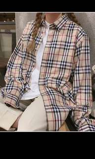 Plaid buttoned down