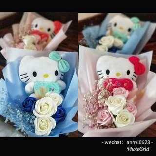 Hello kitty flower bouquet