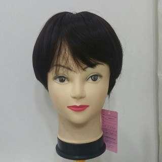 Scalped Dark Brown Wig