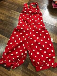 jumpsuit red polka