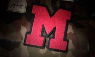 """""""M"""" letterman patch"""