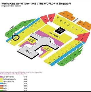WTS Wanna One CAT1 & CAT2 Concert Ticket