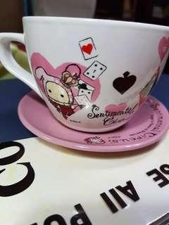 🚚 深情馬戲團優雅咖啡杯盤組💗