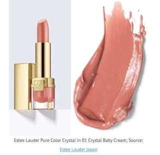 BNIB Estee Lauder Pure Color Crystal in 01 Crystal Baby Cream