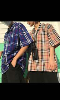 Buttoned down plaid shirt
