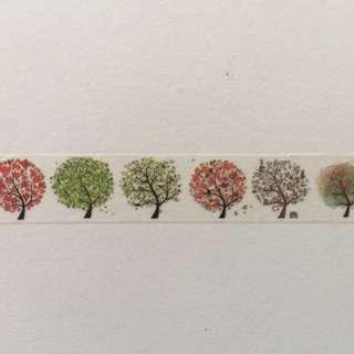 Colourful Trees GJ37 Washi Tape 15mm x 10m