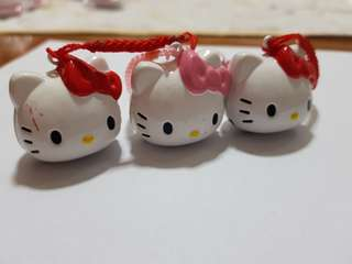 Hello kitty bell keychain