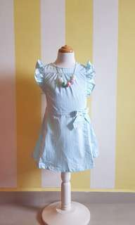 [New] Girl Dress 👗 Turquoise Color 4T