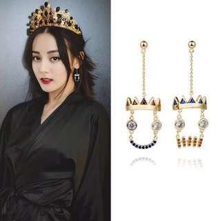 Korea style earring | 925 silver | copper plated earring |