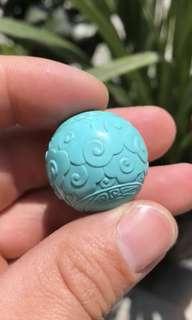 ✥松石✥26毫米果凍料雲紋珠