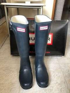 Hunter 藍色水鞋 雨靴 navy wellington boots
